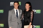 Dan Carter with wife Honor at the BBC Sports Personality of the Year awards. Photo / photosport.nz