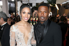 Corinne Foxx and Jamie Foxx arrive at the Golden Globe awards. Photo/Getty