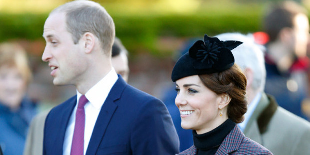 William and Kate at the memorial service. Photo / Getty Images
