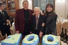 Procopio Di Maggio celebrated his 100th birthday with a rather large cake. Photo: Facebook