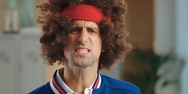 Novak Djokovic as John McEnroe. Photo / YouTube