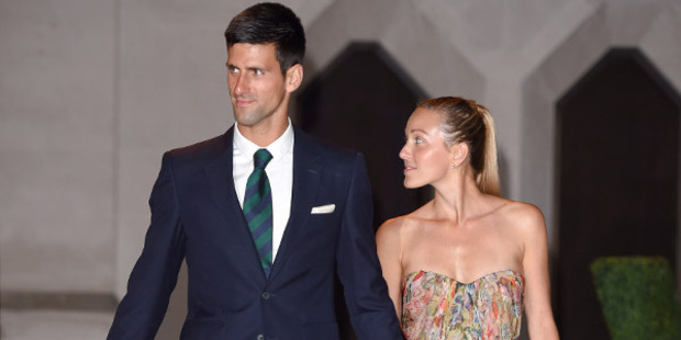 Djokovic admits he got his game plan all wrong for his first date 10 years ago with now-wife Jelena. Photo / Getty Images
