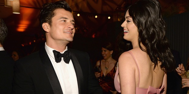 Orlando Bloom and Katy Perry flirted up a storm at a Golden Globe after party. Photo / Getty