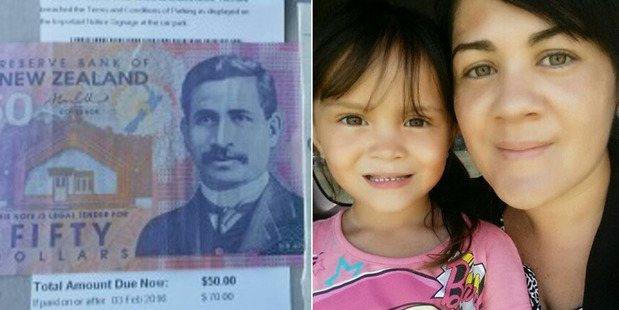 Sheena Mareikura with her 4-year-old daughter Tiahomairangi and the kind gift that made her day..