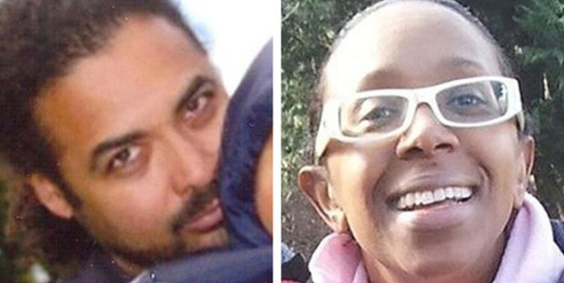 Police wee searching for Arthur Simpson-Kent (left) after discovering three bodies in their search for missing actress Sian Blake (right) and her two children.