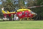 A young child has been flown to Auckland Starship Hospital after nearly drowning at Palm Springs hot pools in Parakai, north of Auckland today.