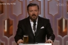 Watch Ricky Gervais take on Caitlyn Jenner in his opening monologue at the Golden Globe awards.