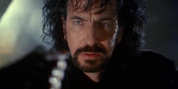 Rickman stole the show as the Sheriff of Nottingham in Robin Hood Prince of Thieves.