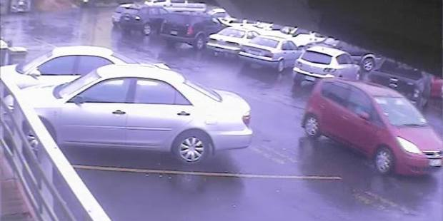 They were seen leaving in a stolen red Mitsubishi Colt. Photo / Supplied via police