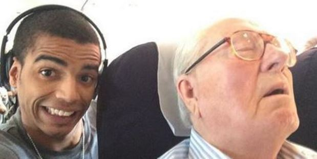 The selfie that could end up costing the dancer $83,000. Photo: Brahim Zaibat/Facebook