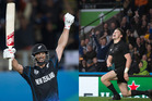 Grant Elliott's six and Beauden Barrett's try are among the finalists for the Halberg top sporting moments of 2015.