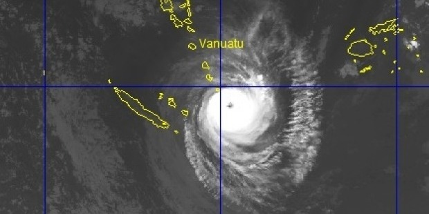 A Fiji Meteorological Service spokesman says the system is passing near the southern fringes of Vanuatu. Photo / VANUATU METEROLOGICAL SERVICE