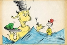 Theodor Seuss Geisel's sketches are on display at an exhibition in London devoted to his work.