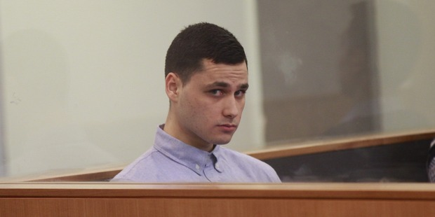 Vincent Skeen appears in Auckland High Court, charged with the murder of Luke Tipene.  Photo/Nick Reed