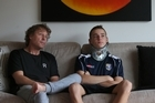 Tauranga Boys' College student Louis Grindrod is at home and walking, only a month after a horrific rugby injury.