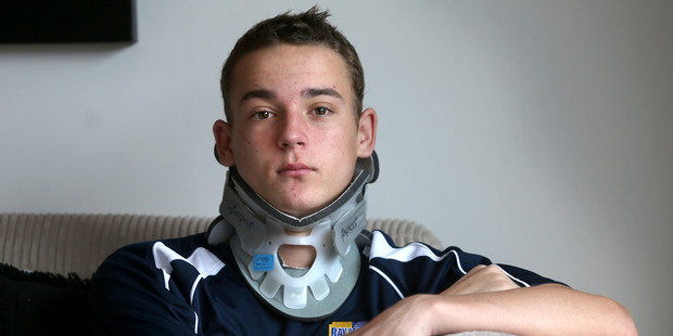 Louis Grindrod is finally home after suffering a serious neck injury while playing rugby. Photo/John Borren