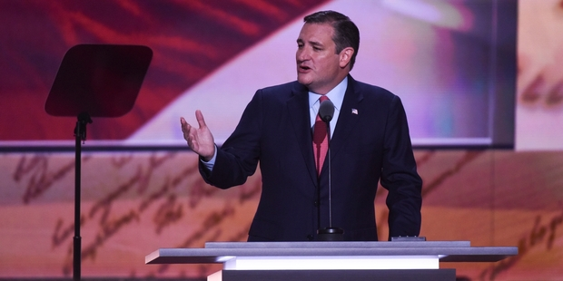 Ted Cruz ignited an eruption of bitterness. Picture / AP