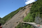 The massive slip which closed the road through the Manawatu Gorge for more than a year in 2011.