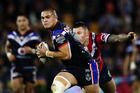 Tuimoala Lolohea of the Warriors is reported to be talking with five different NRL clubs. Photo / Getty
