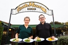 OH MY GOODNESS: Bostock Organic Kitchen chefs, Lucia Gordon and Arnault Vallee, serving up healthy lunches at Rush Munro's. PHOTO/SUPPLIED