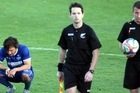 EMOTIONAL RIDE: Even match officials Scott Mancer (left) and Matt Stoneman seem to be sharing the pain and anguish of Blues players, such as Harry Morton. PHOTO/FILE