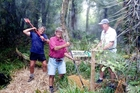 INSPIRING: Wanganui Tramping Club at work on the tracks at Waitahinga.