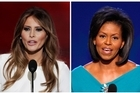 Melania Trump, left, wife of Republican Presidential Candidate Donald Trump, and Michelle Obama, wife of President Barack Obama. Photo/AP