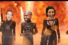 One of the popular images spreading via the hashtag #KimExposedTaylorParty on Twitter shows Calvin Harris, Kanye West and Katy Perry as part of Kim Kardashian's squad. Photo /Twitter