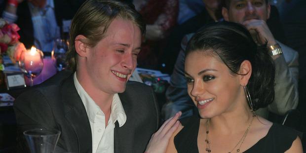 Macaulay Culkin and Mila Kunis. Photo / Getty Images