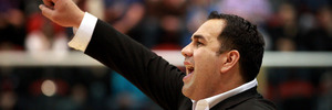 Pero Cameron reacts to a call while coaching the Wellington Saints. Photo / Getty Images