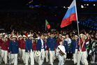 The Russian Olympic team at the 2012 Olympic opening ceremony. Photo / Getty