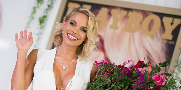 Dani Mathers attends Playboy's '2015 Playmate Of The Year' announcement and luncheon at The Playboy Mansion on May 14, 2015. Photo / Getty