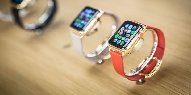 The new Beta menus look a lot like the bubbly, almost empty layout you see on notifications for the Apple Watch. Photo / Getty Images
