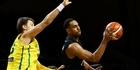 Watch: Mika Vukona takes on the Radio Sport basketball machine