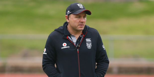 Warriors coach Andrew McFadden does not want his younger players to become over-exposed to the harsh reality of the NRL. Photo / Getty Images