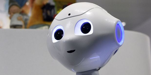 Pepper, the Japanese-made humanoid robot. Photo / Getty Images