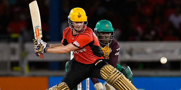 Colin Munro playing for the Trinbago Knight Riders. Photo / Getty