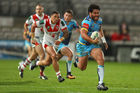 Konrad Hurrell in action for the Gold Coast Titans. Photo / Getty Images