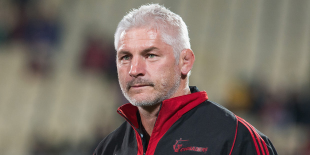 Head Coach Todd Blackadder of the Crusaders. Photo / Getty