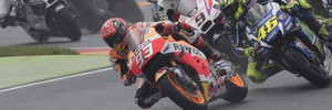 Marc Marquez leads the field during the MotoGP race of Germany. Photo / Getty Images