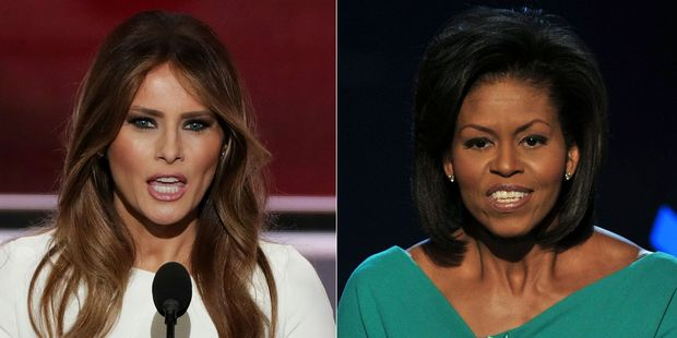 Melania Trump's speech has sparked controversy for being too similar to Michelle Obama's speech eight years ago. Photo / Getty Images
