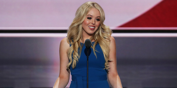 Tiffany Trump delivers a speech at the Republican National Convention. Photo / Getty Images