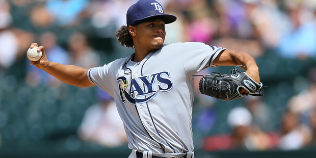 Chris Archer delivers to home plate against the Colorado Rockies. Photo / Getty Images