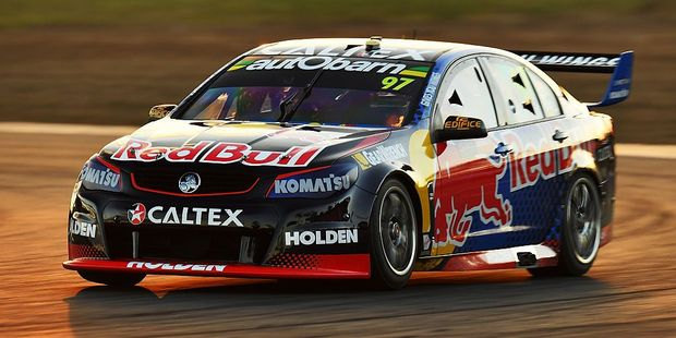Shane Van Gisbergen snatched victory from Kiwi teammate Jamie Whincup in Ipswich. Photo / Getty Images
