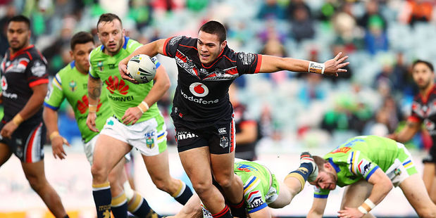 Loading Tuimoala Lolohea helped spark a Warriors comeback but the team couldn't finish when it counted. Photo / Getty Images