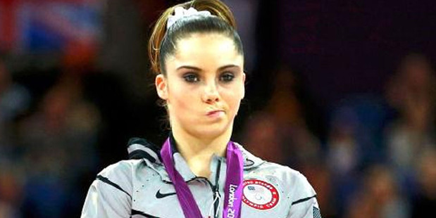 U.S. silver medallist gymnast McKayla Maroney seemed less than thrilled during the podium ceremony for the artistic gymnastics women's vault finals at the 2012 Summer Olympic.