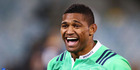 Waisake Naholo of the Highlanders celebrates victory following the Super Rugby Quarterfinal match between the Brumbies and the Highlanders. Photo / Getty Images.