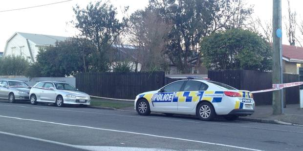 Loading A house on Hoon Hay Rd, Christchurch, has been cordoned off after a sudden death. Photo / Newstalk ZB