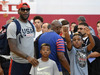 LeBron James with sons Bryce and LeBron Jr.Source:Getty Images