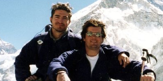Michael Matthews (left), with friend James Everet, died on Mt Everest, aged 22, in 1999. His body was never found.
